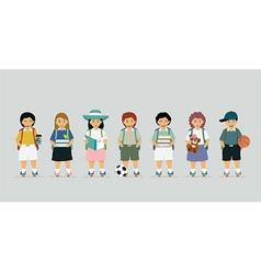 Schoolboy vector image