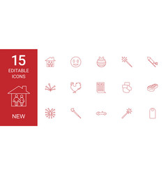 15 new icons vector image