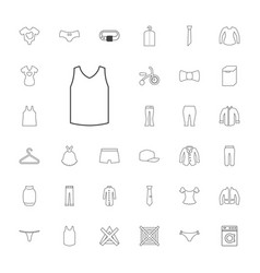33 clothes icons vector