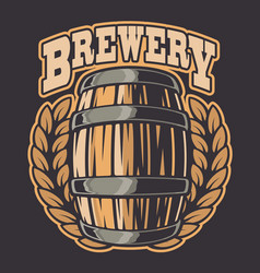 a beer barrel vector image