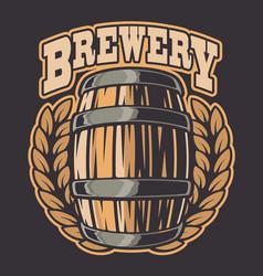 a beer barrel vector image