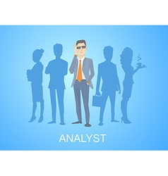 a portrait of analyst man in a jacket han vector image