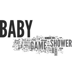 babygameshower text word cloud concept vector image