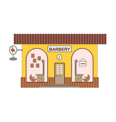 barbery shop cartoon icon in flat style barber vector image