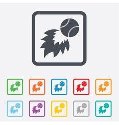 Baseball fireball sign icon Sport symbol vector