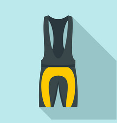 bike clothes equipment icon flat style vector image