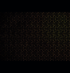black abstract background with golden brilliance vector image