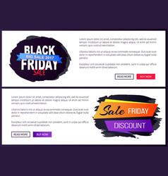Black friday big sale 2017 promo web posters info vector