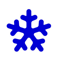 Blue rounded snowflake silhouette template icon vector