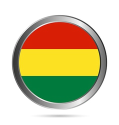 Bolivia flag button vector