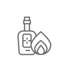 bottle of tequila alcohol line icon vector image
