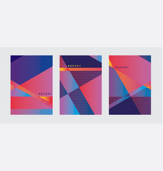 Bright color geometric cover template vector