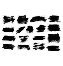 brush strokes set painted isolated objects vector image