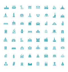 building icons set government icons vector image