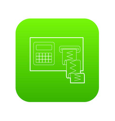 Cardiograph icon green vector