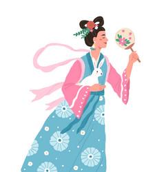 Chang e asian moon goddess mid-autumn festival vector