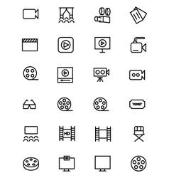 Cinema Line Icons 2 vector image