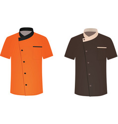 Cook uniforms vector