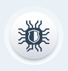 Cryptography icon pictograph vector