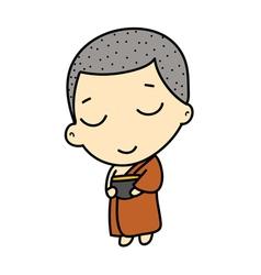 Cute Buddhist Monk vector