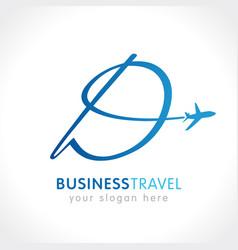 D business travel company logo concept vector
