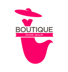 dress boutique or lady fashion atelier salon vector image