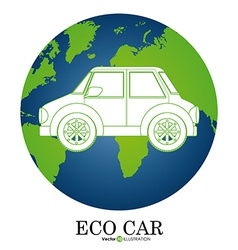 Eco Car icon vector