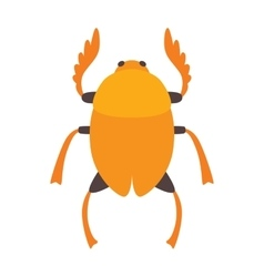 Egypt scarab beetle vector