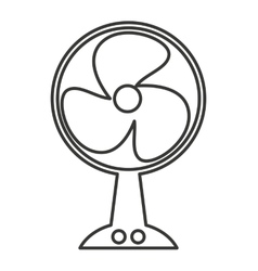 Electric fan isolated icon design vector