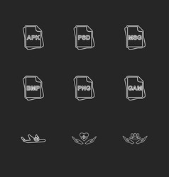 File type files documents eps icons set vector