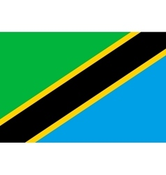 Flag of Tanzania in correct proportions and colors vector