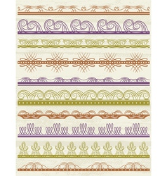 floral decorative borders ornamental rules divider vector image