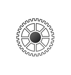 gears settings icon cogwheel gear mechanism vector image