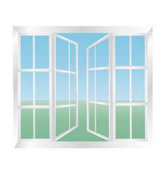 glazed windows icon vector image