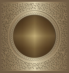 gold background with swirly pattern vector image