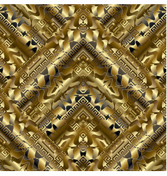 Gold striped meander seamless pattern surface vector