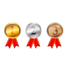 Golden silver bronze awards vector image
