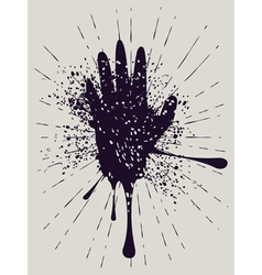 Grunge Hand with Gestures vector