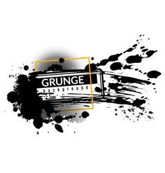 grunge ink background black inked splatter dirt vector image