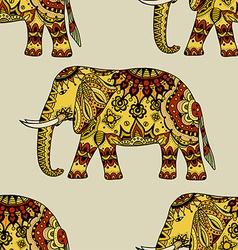 Hand Drawn Ethnic Elephant vector