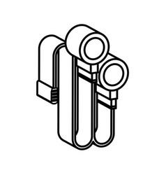 headphones sound isolated icon vector image