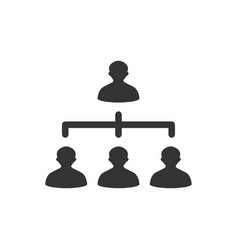 Hierarchy team building icon vector
