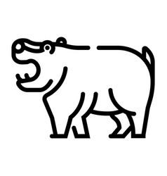 Hippopotamus line vector