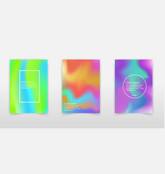 hologram gradient background set with holographic vector image