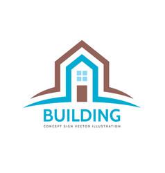 house home building - logo concept vector image