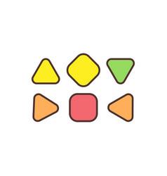 Human design energy centers rgb color icon vector