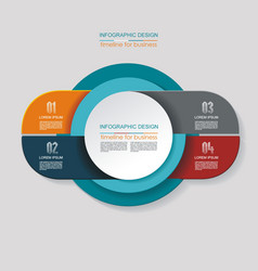 infographic design options template timeline vector image