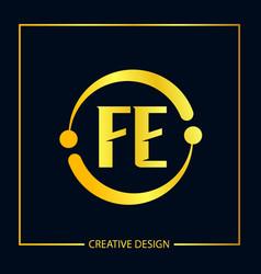 Initial fe letter logo template design vector