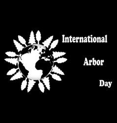 international arbor day vector image