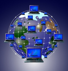 internet 01 vector image